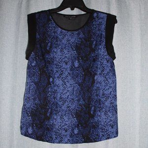 Blue snake print with Sheer back top